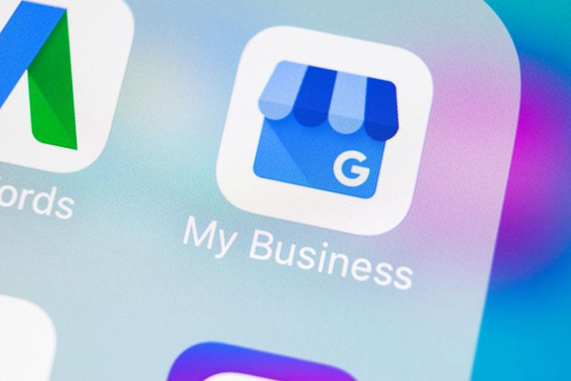 Icone de l'outil de référencement local Google My Business