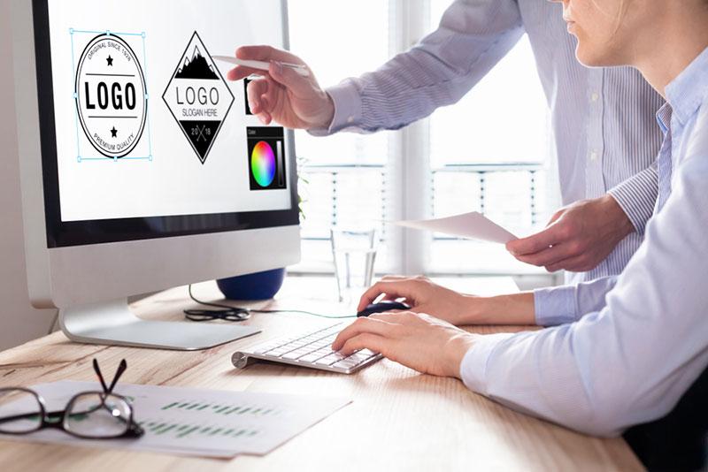 Création de charte graphique et logo d'entreprise par un graphiste
