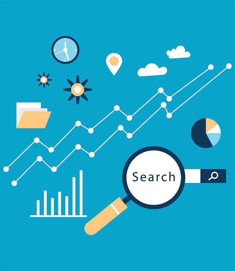 Iconographie de la technique SEO search engine optimization
